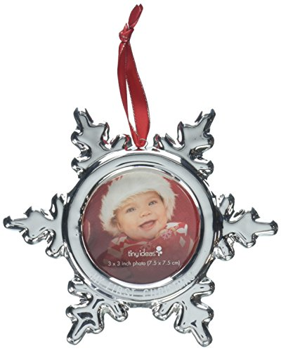 - Tiny Ideas Keepsake Holiday Snow Flake Photo Ornament, Silver