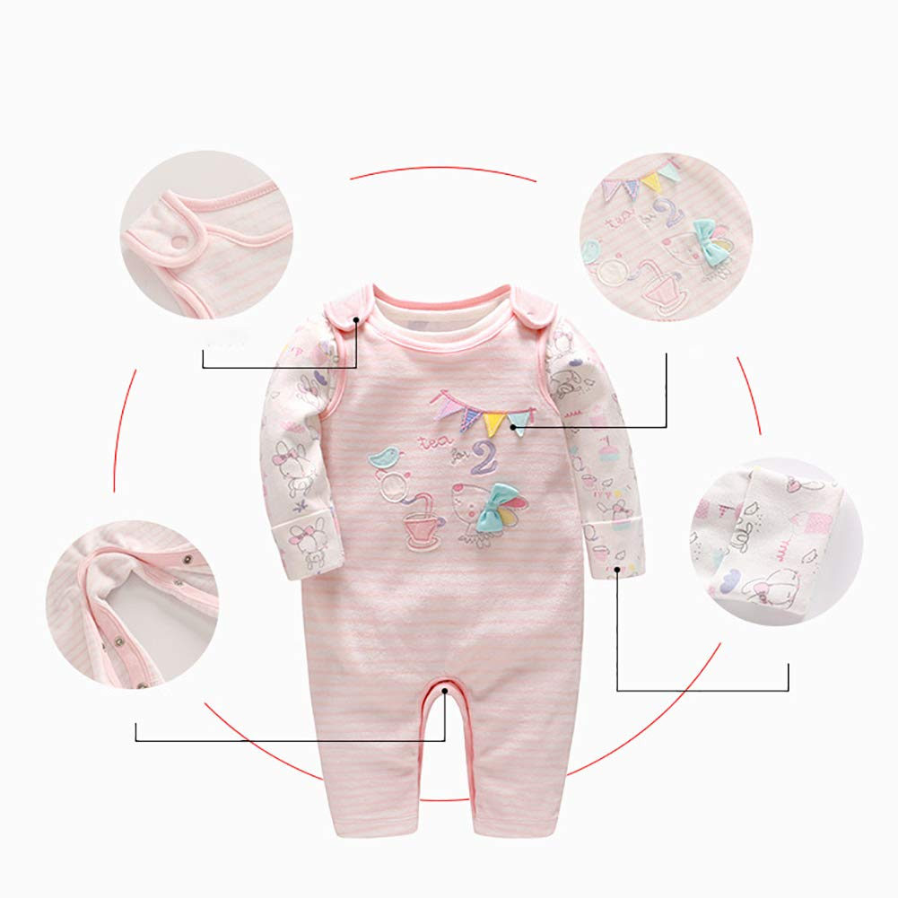 Baby Girls Long Sleeve Rompers Jumpsuits Playsuit Outfit Clothes 9-12 Months