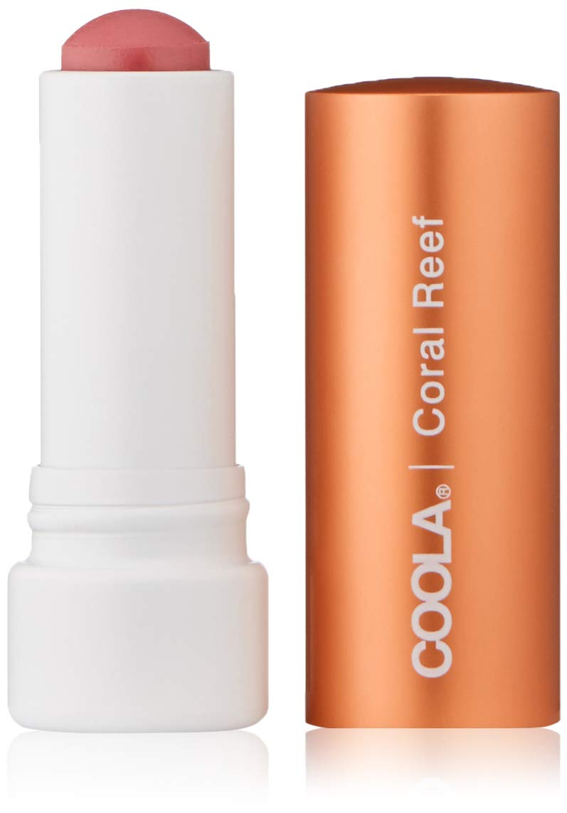 COOLA Organic Liplux Tinted Mineral Lip Balm Sunscreen | Broad Spectrum SPF 30 | Certified Organic Ingredients | Farm to Face | Non-GMO | Antioxidant Powered Natural Fruit Butters | Coral Reef by Coola Suncare
