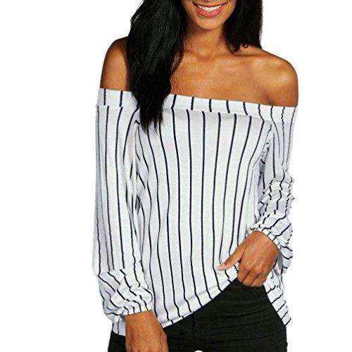 Roiper Femme Chemisier Epaule Dnude Blouse Batwing Manches Ouvertes Haut Rayure T-Shirt Manches Courtes Top Taille Cravate Casual Chic lgant Vtements Printemps t Automne Noir