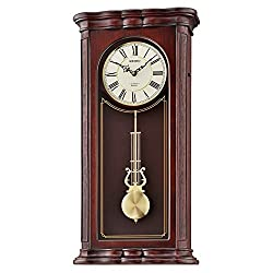 Seiko 'WALL-MUSICAL' Wood Shelf Clock, Color:Dark Brown (Model: QXM361BLH)