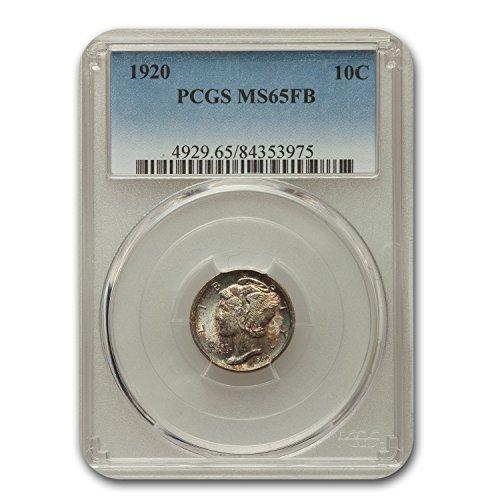1920 Mercury Dime MS-65 PCGS (FB) Dime MS-65 PCGS