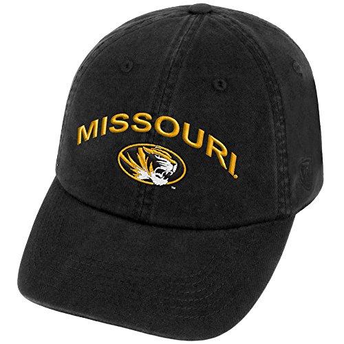 Top of the World Missouri Tigers Men's Hat Arch, Black, Adjustable