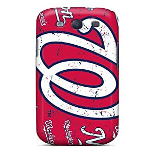Protective Tpu Case With Fashion Design For Galaxy S3 (washington Nationals)