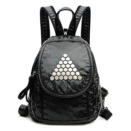 Rivets Lady Fashion Backpack Shoulder Casual Travel Women Daypack Small 02 Bag 161rxE5w