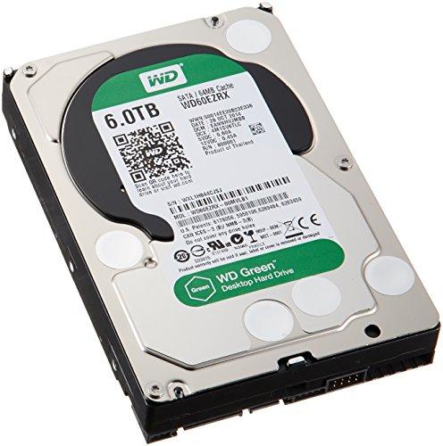 WD Green 6TB 3.5-Inch SATA 6.0Gb/s IntelliPower 64MB Cache Hard Drive (WD60EZRX) ()
