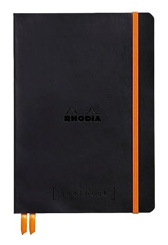 Rhodia A5 Goal Book, Dot, Black