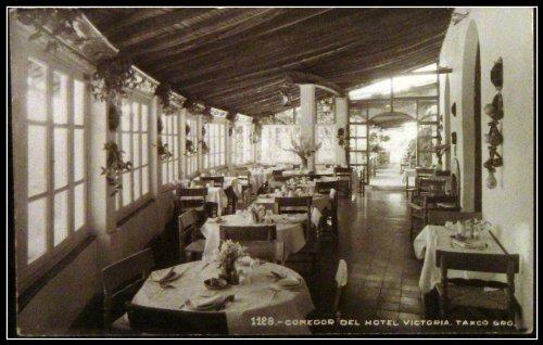 Taxco Mexico Hotel Victoria Postcard (rppc) 1930-40 Blank reverse