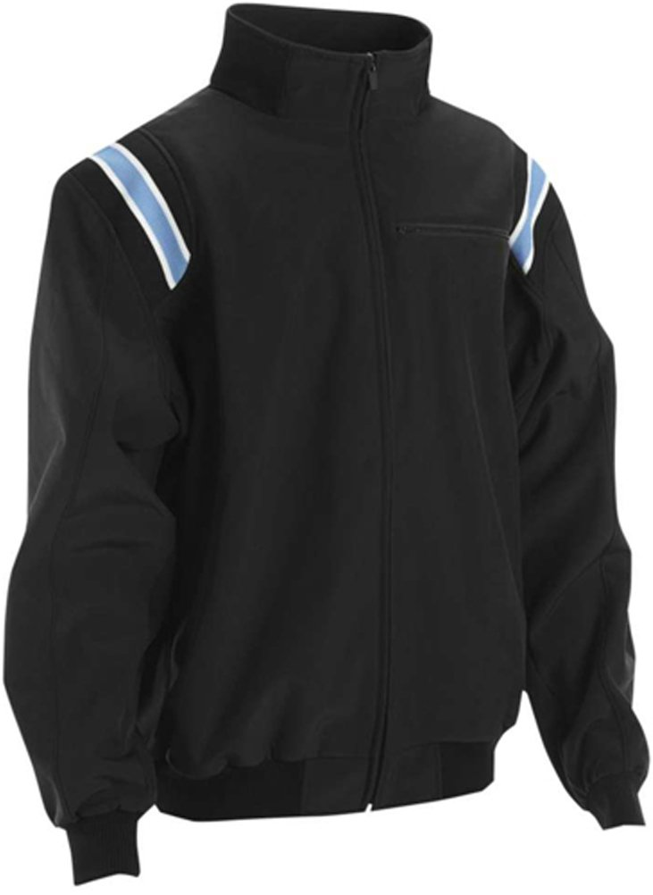 Smitty Pro Style Cold Weather Umpire Jacket (Large, Black/Powder Blue) by Adams USA (Image #1)