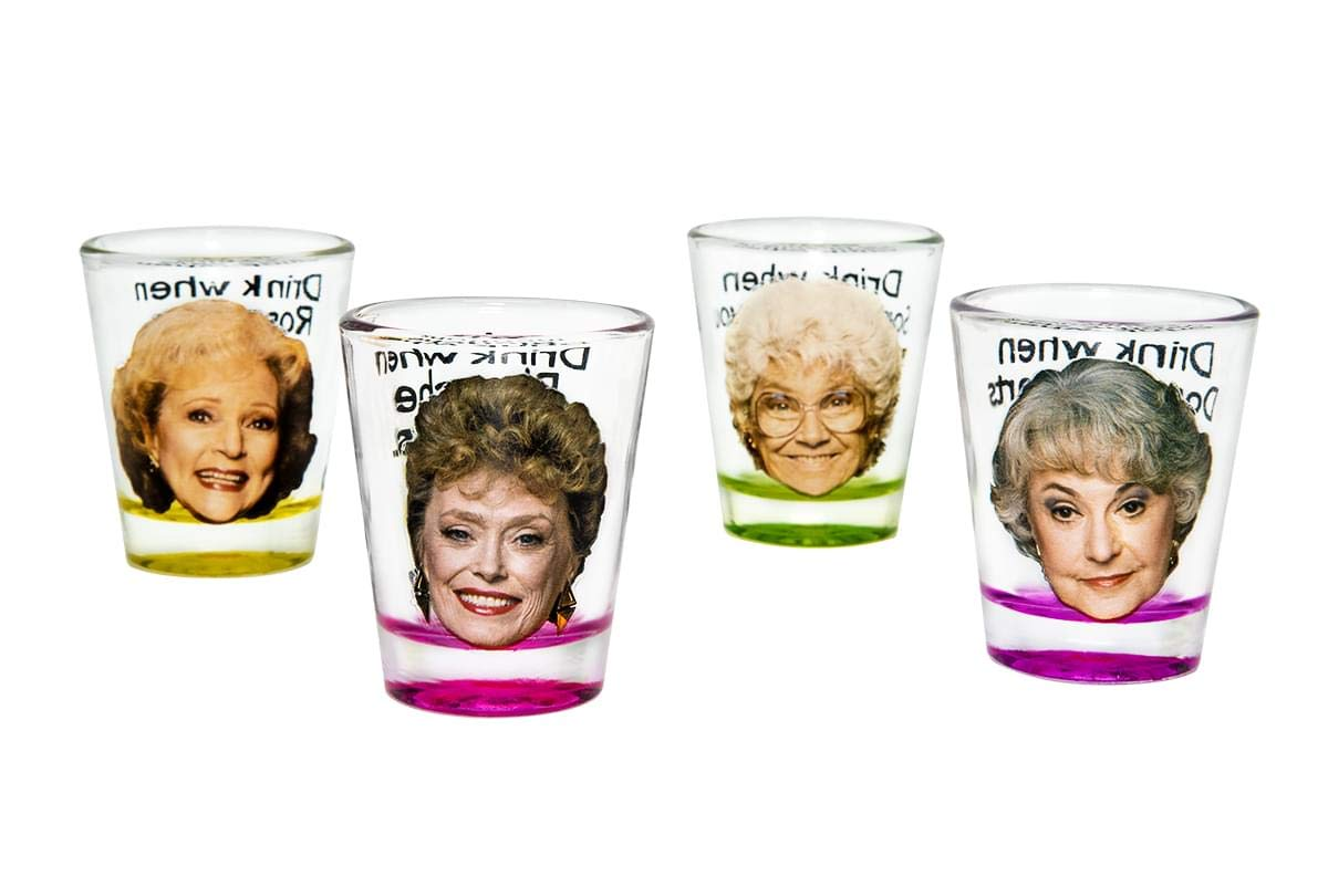 Golden Girls Shot Glasses | Fun Drinking Games | Set Of 4 Collectible Glasses | Perfect For Parties, Game Night…