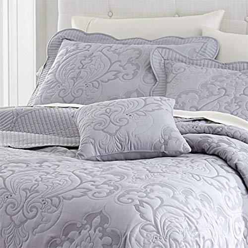 BrylaneHome Amelia Bedspread (Grey,Queen)