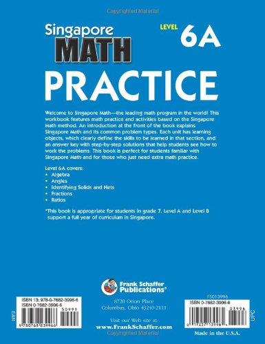 Counting Number worksheets grade 7 math probability worksheets : Amazon.com: Singapore Math Practice, Level 6A, Grade 7 ...