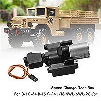 HUIFEIDEYU WPL Speed Change Gear Box for WPL B1 B24 B16 B36 C24 1/16 4WD 6WD RC Car Parts