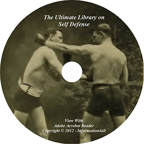 Self Defense, Ultimate Library on CD – 54 Books, Fight, Training, Sparring, Boxing, Wrestle, Jiu Jitsu