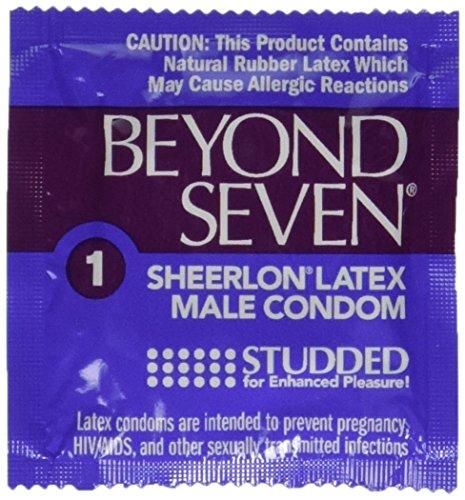(Okamoto Beyond Seven STUDDED Condoms - 25 condoms)