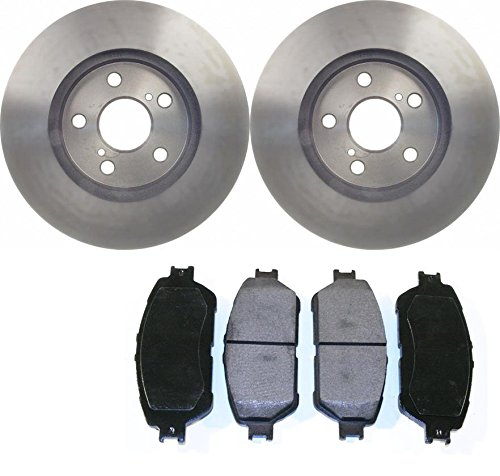 Prime Choice Auto Parts RSCD41316-41316-906-2-4 4 Front Ceramic Brake Pads and 2 Front Brake Rotors