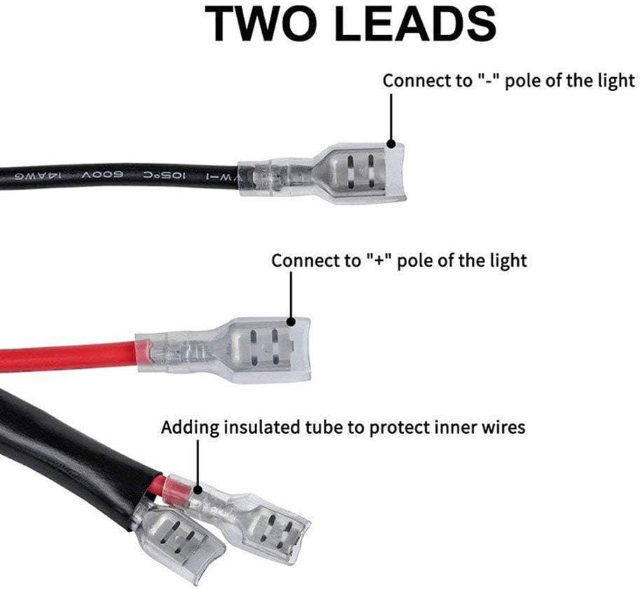 Kit de rel/é de luz LED para conectar el cami/ón barra de luz antiniebla de 12 V coche 40 A
