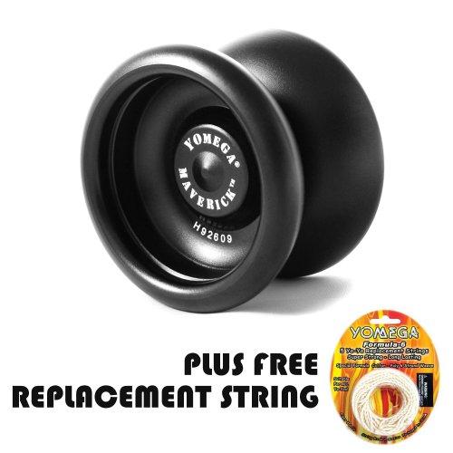 Yomega Maverick -Professional Aluminum Metal Yoyo for Kids and Beginners with C Size Ball Bearing for Advanced yo yo Tricks and Responsive Return (Colors May Vary) (Promotional Yo Yos)