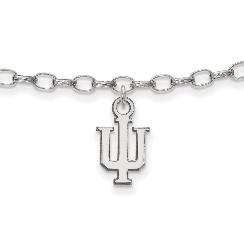 7mm Jewel Tie 925 Sterling Silver Indiana University Anklet with Secure Lobster Lock Clasp