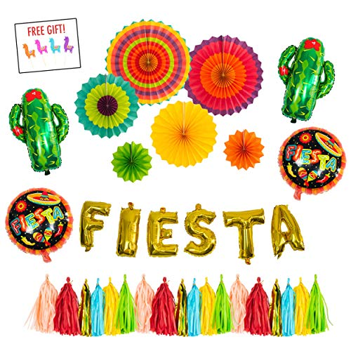 Fiesta Centerpieces - FIESTA PARTY Decorations Supplies kit -
