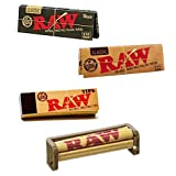 RAW BUNDLE SET RAW BLACK 1¼ + RAW CLASSIC PAPERS + RAW TIPS + 79mm ROLLER MACHINE