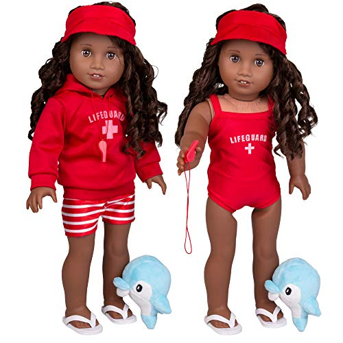 Dress Along Dolly Summer Lifeguard Outfit for American Girl and 18