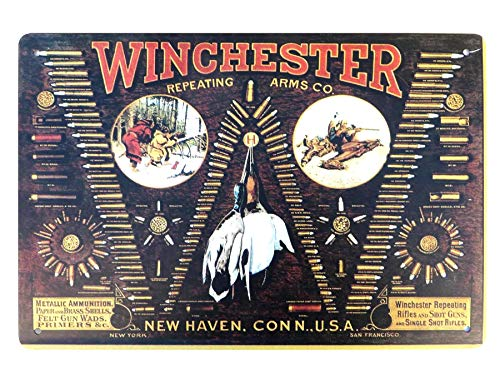 Winchester Repeating Arms Co Firearms Bullet Board Gun Rifle Sign Outdoor Artwork Living Room Plaque Pub Studio plaques