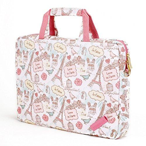 - Laptop Bag 15.6 Inch for Women - Canvas Waterproof Business Leisure Shoulder Shoulder Laptop Case Messenger Laptop Tote Bag Briefcase Small Slim Cute Thin for Laptop Case