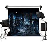 Kate Night Horrible Backgroud Tombstone Backdrop for Holloween Party for Children Celebration Photography Studio Photo 10x6.5ft/3x2m