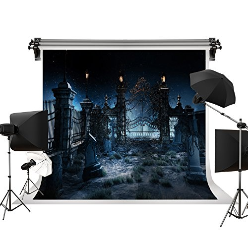 Kate Halloween Backgrouds Night Horrible Backdrops Tombstone Backdrop for Holloween Party for Children Celebration Photography Studio Photo 7x5ft/2.2x1.5m