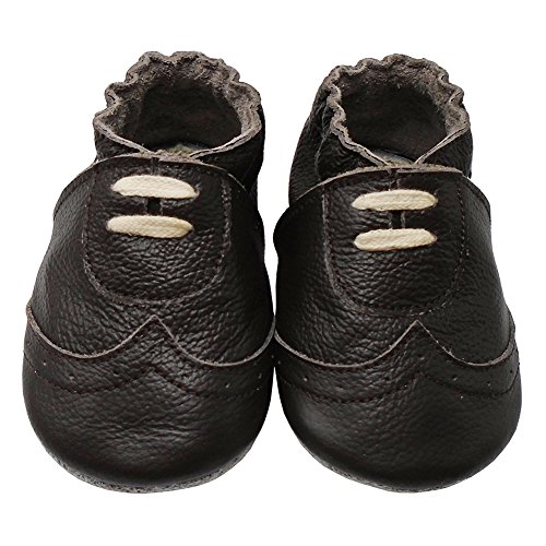 Kids Shoes Dark Smooth Brown (Mejale Baby Premium Soft Sole Leather Moccasins Infants Toddlers Sneakers First Walking Shoes(Dark Brown,24-36 Months))
