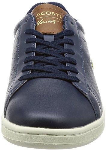 Sneaker Lacoste Carnaby Evo Uomo Blu Scuro / Marrone