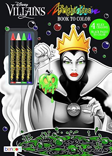 Disney Bendon 43249 Villains Black Paper Coloring & Activity Book with Crayons, Multicolor ()