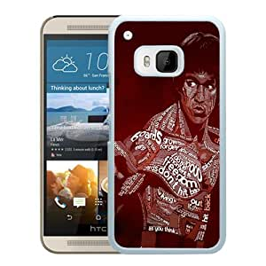 Popular Custom Designed Case For HTC ONE M9 With Bruce Lee Typographic White Phone Case