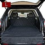 HCMAX Luxury Dog Vehicle Cargo Liner Cover Pet Seat Cover Bed Floor Mat Nonslip Waterproof Universal Car SUV Truck Jeeps Vans Black - Large
