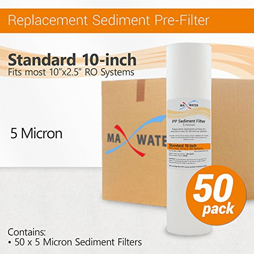 (5 Micron Sediment Water Filter Cartridge for Reverse Osmosis 10