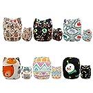 Alva Baby New Design Reuseable Washable Pocket Cloth Diaper 6 Nappies + 12 Inserts 6DM24