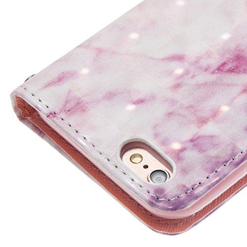 Funda iPhone 6/6S 4.7 pulgadas,SainCat Funda de cuero sintético tipo billetera con de Suave PU Carcasa Con Tapa y Cartera, Elegante Estuche Caja,Pintado en relieve árbol Cuero de la PU Leather Cubiert Rosa