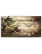 Creatieve veer Olive XXL natuurlijke keukenklok designer stil radio wandklok modern design ZONDER tikken *