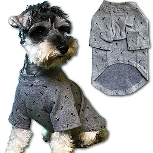 Chol&Vivi Shirts for Dog Puppy T-Shirts, Cotton Fashionable Puppy Apparel Summer Vest Costumes for Extra Small Dog Puppy…