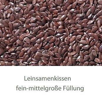 W/ärmekissen K/örnerkissen Traubenkernkissen XXL 8-Kammer Bio Stoff rot-wei/ß 75x20cm