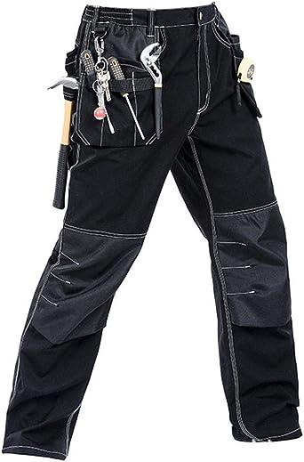 Amazon Com Pantalones De Construccion Ripstop De Los Hombres Pantalones Tacticos De Campo De Varios Bolsillos De Carpintero Pantalones De Trabajo De Carga Clothing