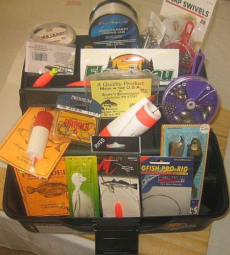 Flambeau 2-Tray Tackle Box – W/Mega Tackle Kit Included – Saltwater