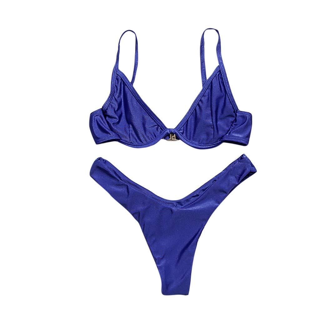 Bikinis Mujer,Dragon868 Color Puro Trajes de ba/ño Vendaje Playa Ropa Bikinis Mujeres