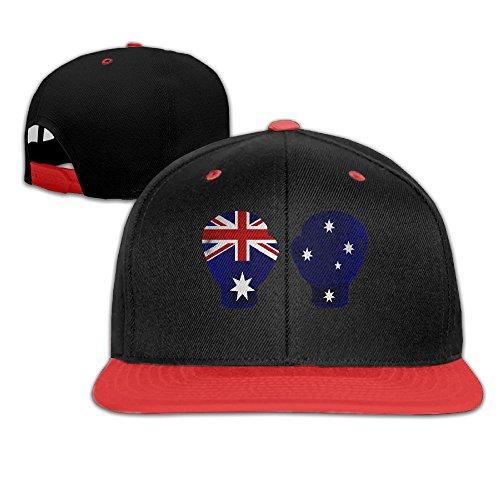 Hip Hop Baseball Cap Australian Flag Boxing Gloves Trucker Flat Hat For Boy Girl by Oopp Jfhg