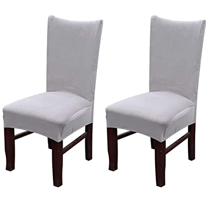 Amazon.com: Smiry Velvet Stretch Dining Room Chair Covers ...