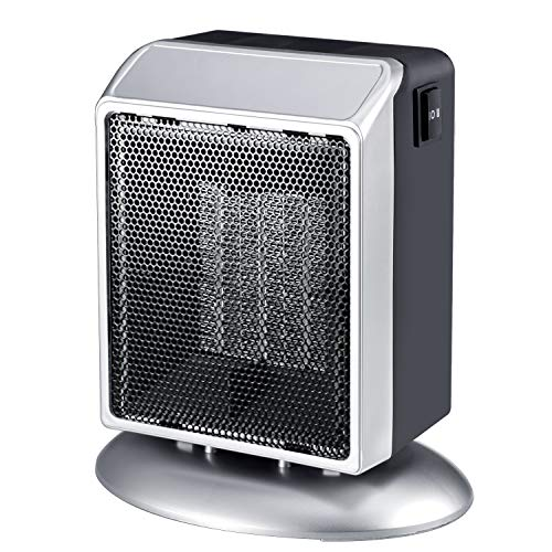 Portable Space Heater, 400W 900W Ceramic Space Heater with Overheat and Tip-Over Protection, Premium Quiet Electric Heater for Office Home Bedroom