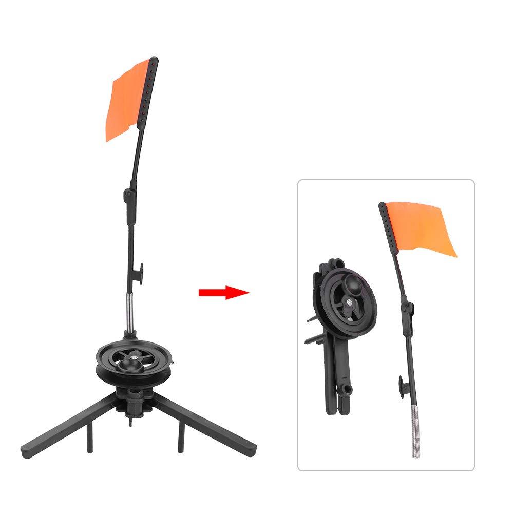 Tip-Up freie Hand haltbar kompakte Metallstange orange Flagge f/ür Eisfischen Angler Angelger/ät Dilwe Eisfischen Angelrute