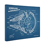 Vintage Patent Star Wars Millennium Falcon Patent CANVAS Wall Art