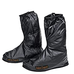 """SOLD & WARRANTY BY ASTRA DEPOT  Package includes: One pair of waterproof rain boot covers  Boot Leg length: 14"""" (35.5cm); Heel length: 13 1/2"""" (34.5cm); Heel width: 5 1/2"""" (14cm)  Shoes cover size fits: Euro 44-45 / US 10-11 Features: ..."""